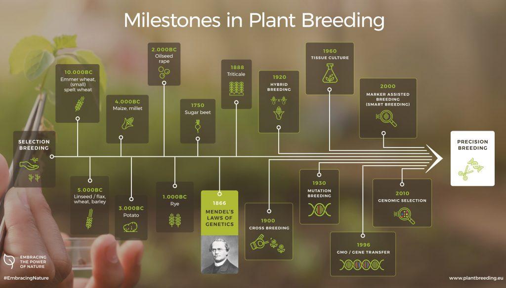Plant Breeding Evolution milestones